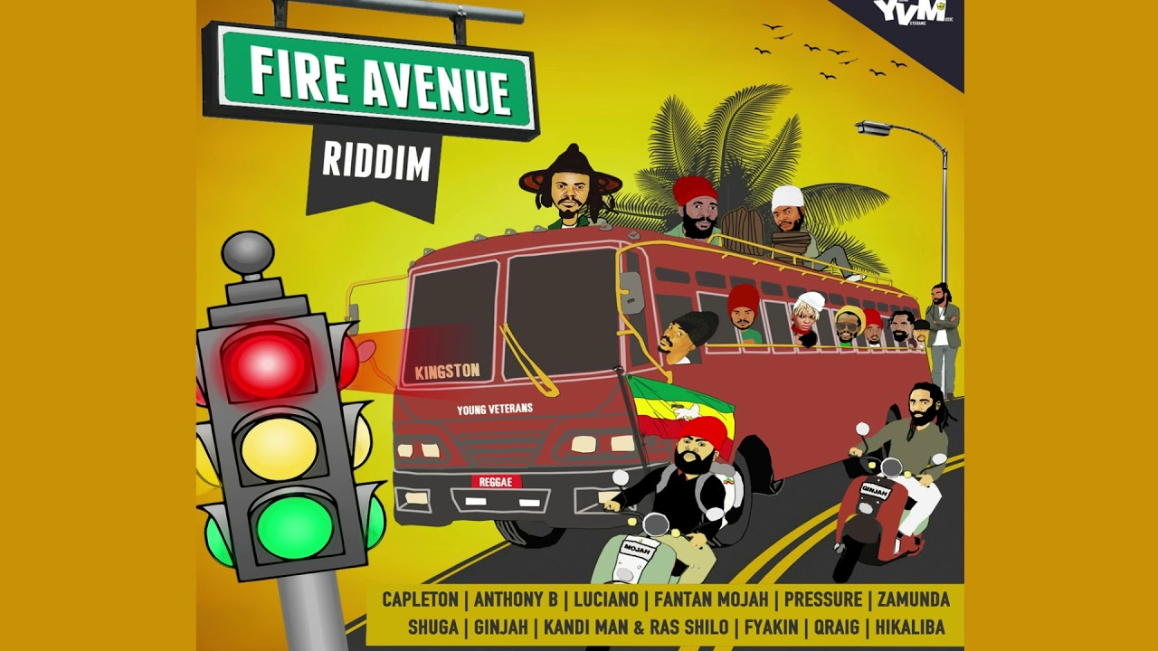 REGGAE RIDDIM FIRE AVENUE OD YOUNG VETERANS